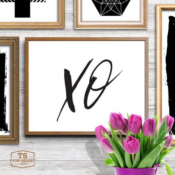 Xo Wall Art Xoxo Hugs And Kisses Printable Art Printable