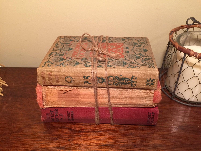Tattered Books Old World Decor Vintage Books By BookBundleLane