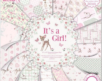First Edition 48-Piece 8 x 8-inch It's a Girl Papers