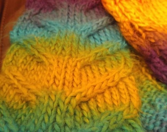 """Hand Knitted """"V"""" Cable Scarf"""