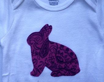 Baby Girl Rabbit Onesie