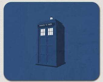 Dr. Who Police Box Blue Tardis Mousepad
