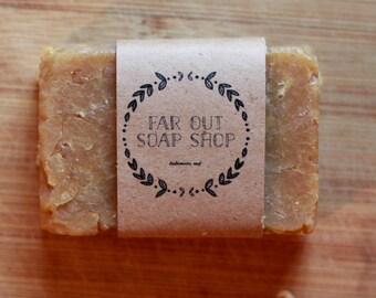 Peppermint Soap, Vegan, Handmade, Natural, Moisturizing, Bar, Hot Process, Winter Soap