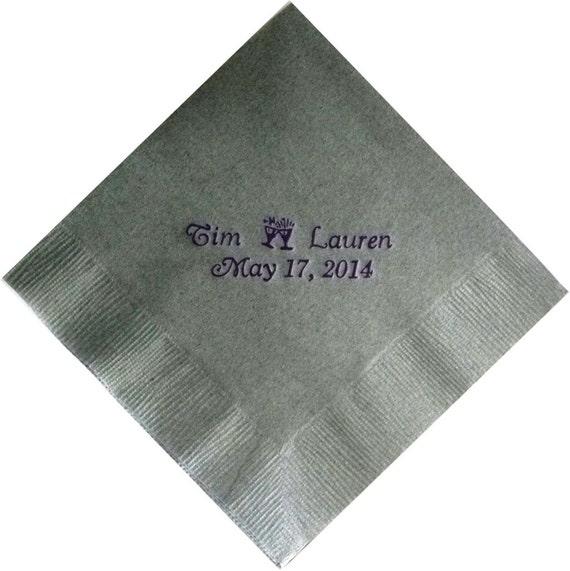 personalized napkins wedding engagement cheap custom printed