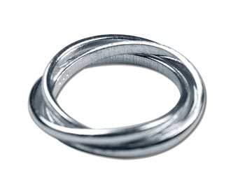 3 Rings Silver Ring
