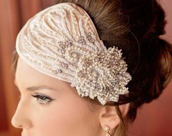 Stunning Couture Vintage bridal headpiece! Adalyn