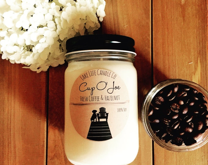 Cup O' Joe Handmade Soy Candle: Lake Life Candle Co. Made in WI