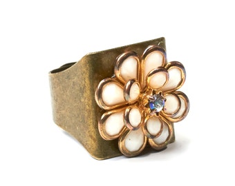 Ring | statement ring | Bronze flower ring | hippie vintage | ethno ring