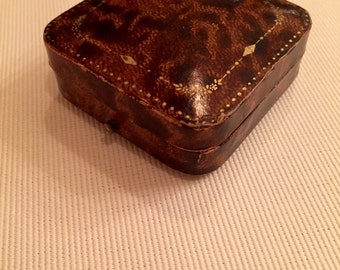 Antique Leather Brown Textured Jewelry Box