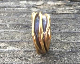 Brass Organic Design Ring