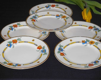 6 Grindley Ivory Dartmouth Bread and Butter Plates