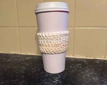 Cream Coffee Cozy (Pink-Flecked)