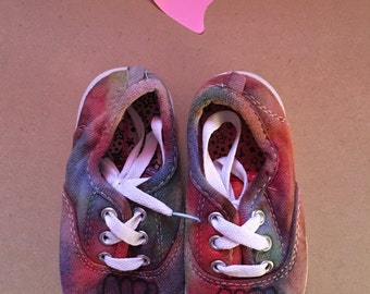Childrens MRBTies Homemade Tie Dye Shoes
