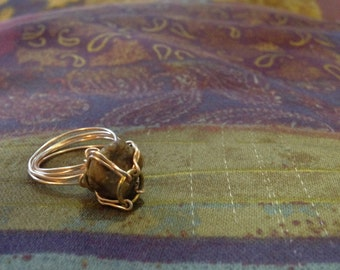 Rock Wire-wrapped Ring