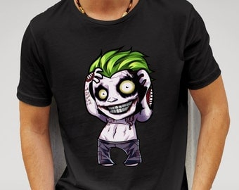Suicide Squad Shirt, Features print of Suicide Squad Joker in chibi style. DC Comics