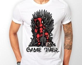 Deadpool vs Game of Thrones custom T Shirt, marvel comics, Boy Friend Gift Idea, Girl Friend Gift, Birthday Gift Idea, Best Friend Gift