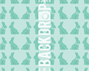 Large Photography Backdrop- Bunnies - 5'x5', 5'x6', 5'x7', 5'x10'