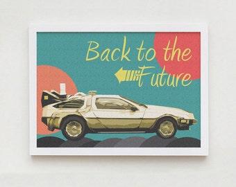 Back to future art home decor wall design print
