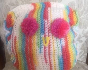 Funky owl decorative pillow
