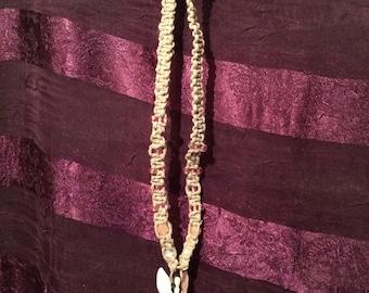 Fairy charm hemp necklace