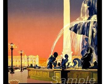 Vintage Paris French Travel Poster Print