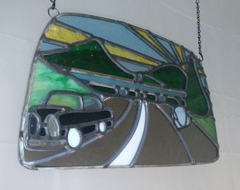 Kraftwerk Autobahn in glass