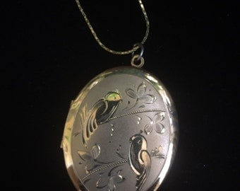 Lia Sophia Bird locket necklace