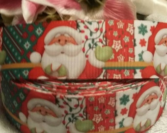 "3 yards, 1 1/2"" Christmas design grosgrain ribbon great for wreaths"