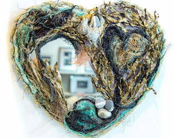Beach Comber Heart Mirror