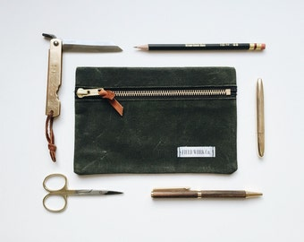 Waxed Canvas Pouch / Carry All