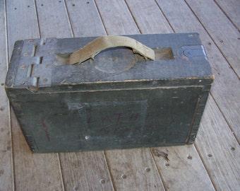 Vintage Military Ammo Wood Box