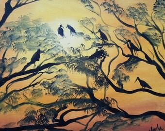 Sunset Storks