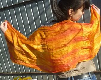 The uniquely silk scarf - orange