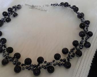 Blue sandstone necklace