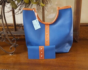 Purse, Shoulder Bag, Leather, Handmade, Spring, Nautical
