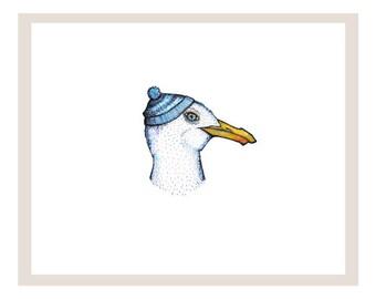 Salty The Sea Bird Art Print