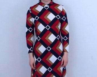 M 1970's Geometric Dress
