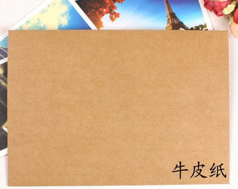 6ct Upgraded* Recycled 400g A5 Kraft Paper Rigid Envelope - 6pcs