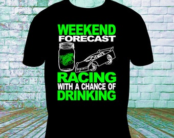 Weekend Racing Forecast, Dirt Track Racing, Racing Gifts, Late Model, Modified, Sprint, Drag Racing, Racing Mom, Racing Wife, NASCAR,