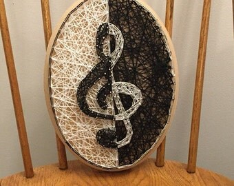Custom Made to Order Treble Clef String Art