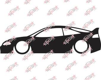 2G Mitsubishi Eclipse DSM Silhouette Vinyl Decal