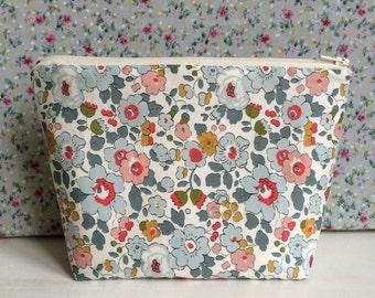 Liberty Print Floral Make up Bag