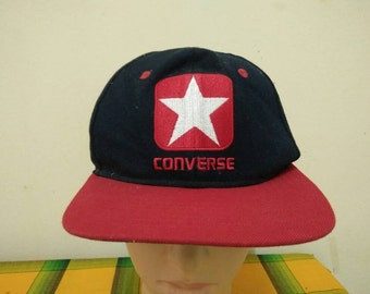 Rare Vintage CONVERSE Big Logo Embroidered , hip hop , hipster Cap Hat Free size fit all