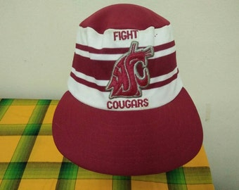 Rare Vintage WASHINGTON STATE COUGARS Cap Hat Free size fit all