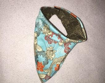 Coy Fish reversable bandana bib