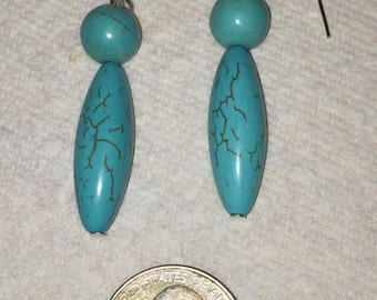 Turquoise colored earring
