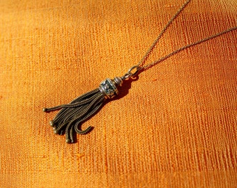 Ancient, necklace, rose gold, gold work, 19.century, Tassel