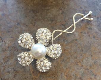 Bridal Hair Pins,Set of 2, Wedding Hair Pins, Swarovski Hair Pins, Pearl Hair Pins