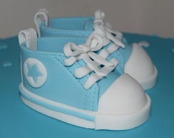 Baby Converse Fondant Cake Topper