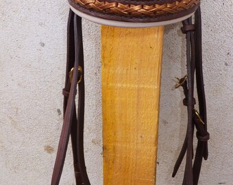 Net size Brown leather horse